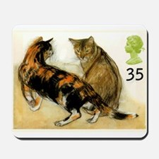 Vintage 1995 Great Britain Cats Postage Stamp Mous