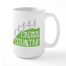 Cross Country Running Hill Mugs