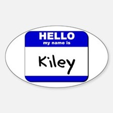 hello my name is kiley Oval Decal