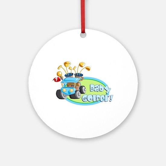 Baby Golfer! Ornament (Round)