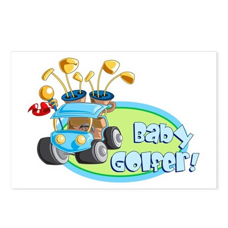 Baby Golfer! Postcards (Package of 8)