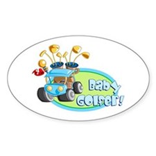 Baby Golfer! Oval Decal