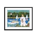 Sailboats (1) Framed Panel Print