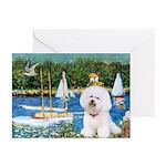 Sailboats (1) Greeting Cards (Pk of 10)