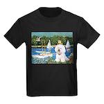 Sailboats (1) Kids Dark T-Shirt