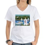 Sailboats (1) Women's V-Neck T-Shirt