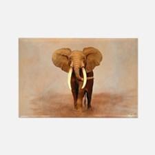 Painted Elephant Rectangle Magnet
