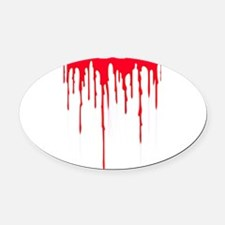 Bleeding Oval Car Magnet