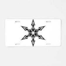 Ninja Star Aluminum License Plate
