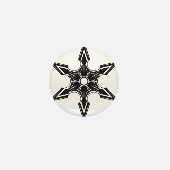 Ninja Star Mini Button (10 pack)