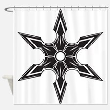 Ninja Star Shower Curtain