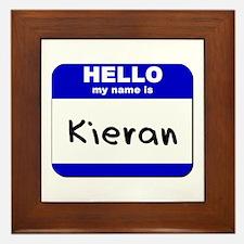 hello my name is kieran  Framed Tile