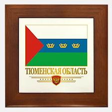 Tyumen Oblast Flag Framed Tile