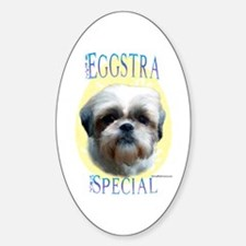Eggstra Special Shih Tzu Oval Decal