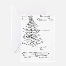 driftwood christmas tree Greeting Cards