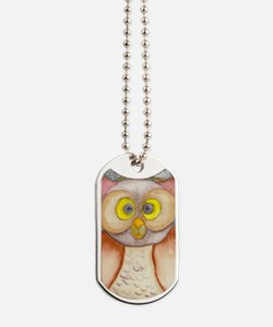 Owl Watercolor Dog Tags