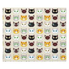 Cattitude - Cute Cat Expressions Pattern King Duve