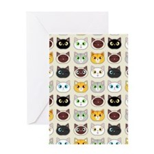 Cattitude - Cute Cat Expressions Pattern Greeting