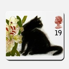 Vintage 1995 Great Britain Black Cat Postage Stamp