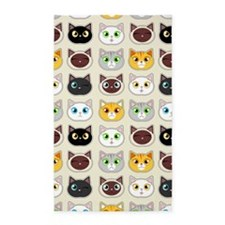 Cattitude - Cute Cat Expressions Pattern 3'x5' Are