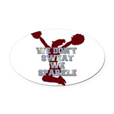 Cheerleader we sparkle Oval Car Magnet