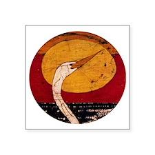 "Egret Lover Square Sticker 3"" x 3"""