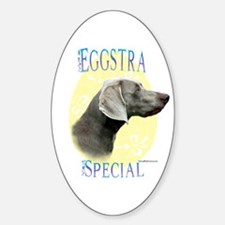 Eggstra Special Weimaraner Oval Decal