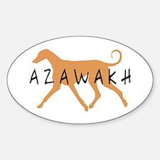 Azawakh Dog Oval Decal