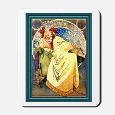 Mucha Art Nouveau Framed Mousepad