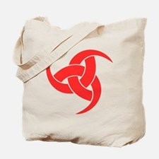 triple horn of odin Red on Drk Tote Bag