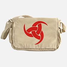 triple horn of odin Red on Drk Messenger Bag