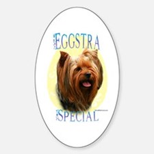 Eggstra Special Yorkie Oval Decal