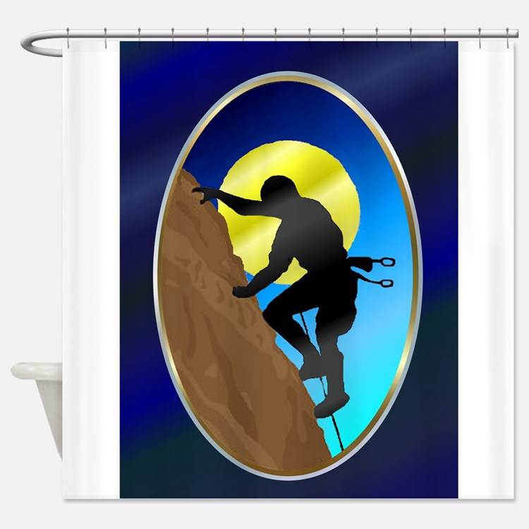 RockClimber2Orn.png Shower Curtain