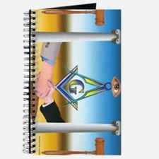 Masonic Scene in oil. Journal