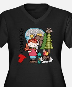 Redhead Girl Women's Plus Size Dark V-Neck T-Shirt