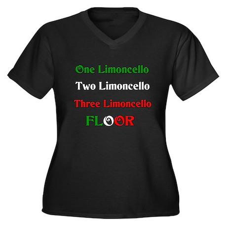 Limoncello Women's Plus Size V-Neck Dark T-Shirt