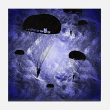 Harvest Moons Paratroopers Tile Coaster