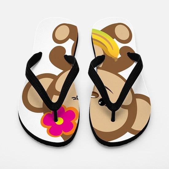 Girl Monkey Flip Flops