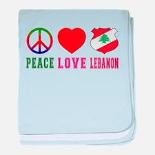 Peace Love Lebanon baby blanket