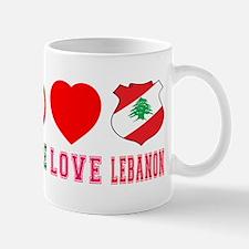Peace Love Lebanon Mug