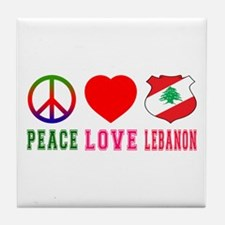 Peace Love Lebanon Tile Coaster