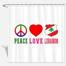 Peace Love Lebanon Shower Curtain