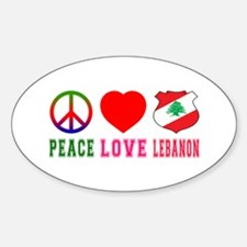 Peace Love Lebanon Decal