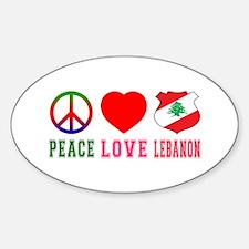 Peace Love Lebanon Sticker (Oval)