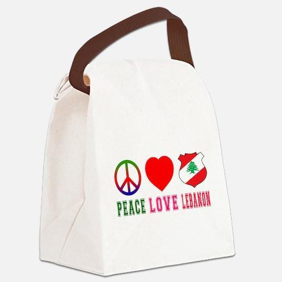Peace Love Lebanon Canvas Lunch Bag