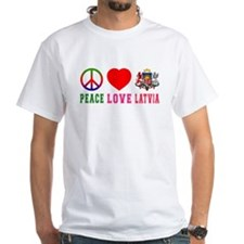 Peace Love Latvia Shirt