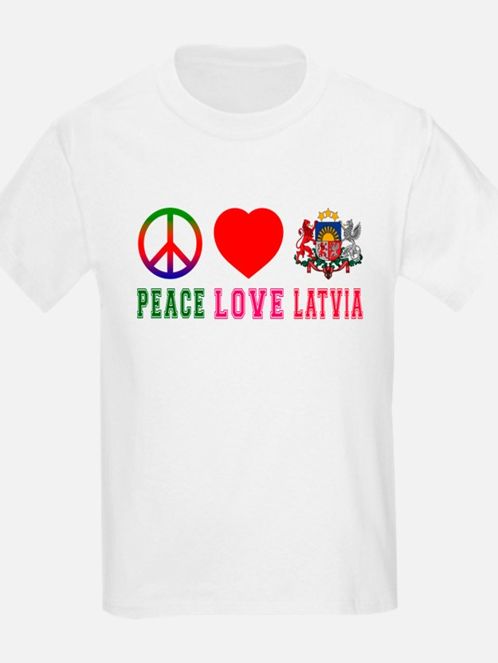 Peace Love Latvia T-Shirt