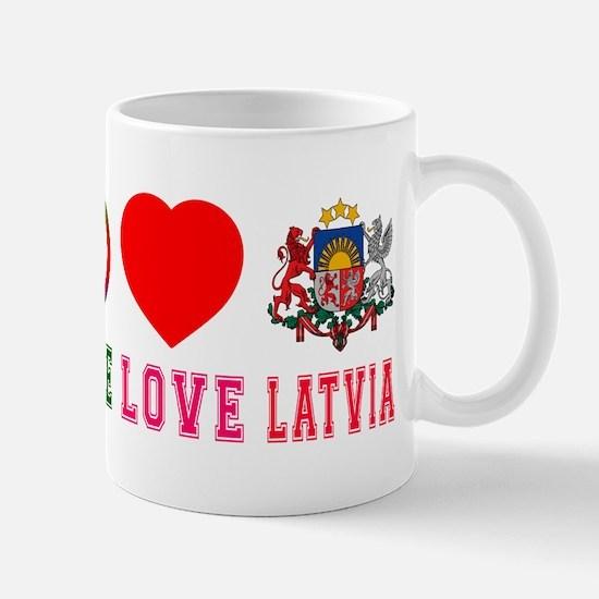 Peace Love Latvia Mug