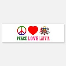 Peace Love Latvia Bumper Bumper Sticker