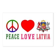 Peace Love Latvia Postcards (Package of 8)